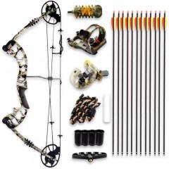 컴파운드보우 양궁 전문가 입문 장비 320fps로 조절 가능한 드로 웨이트 30-70 파운드