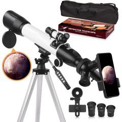 천체망원경 Astronomy for Adults 60mm Aperture 500mm AZ Mount Astronomical Refracting for Kids Beginners w