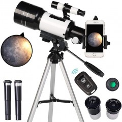 천체망원경 ToyerBee for Kids& Beginners 70mm Aperture 300mm Astronomical Refractor