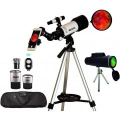 천체망원경 Astronomical Travel Monocular 70mm Aperture 400mm AZ Mount Astronomical Refractor