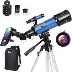 천체망원경 TELMU 70mm Aperture 400mm AZ Mount Astronomical Refracting