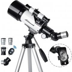 천체망원경 Stilnend 70mm Aperture 500mm AZ Mount Astronomical Refractor for Kids Adults & Beginners