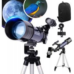 천체망원경 for Kids Adults 70mm Aperture 400mm AZ Mount Astronomical Refracting